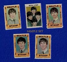 The Beatles Old Vintage 1964 Hallmark Stamps SET Ringo Lennon Harrison Paul
