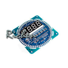 DIY DS1302 Rotating LED Electronic Digital Clock Kit 51 SCM Learning Board 5V