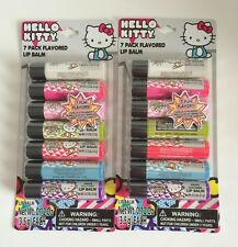 Lot of 2 Hello Kitty 7 pack flavored lip balm 0.12oz. 7 fun flavors DISCONTINUED