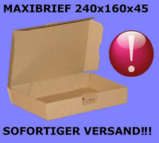 25 Stück MAXIBRIEF 240x160x45 DIN A5 MAXIBRIEF-KARTONS VERSANDKARTONS