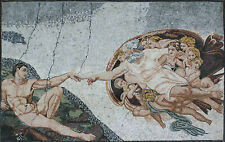 Creation Of Adam Artistic Figure Home Decoration Marble Mosaic FG832