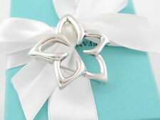 AUTHENTIC MINT TIFFANY & CO SILVER STARFISH STAR FISH PLUMERIA FLOWER BROOCH PIN
