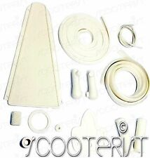 Vespa Vbb Vba Vbc Vna Vnb VL 150 125 Super Sprint White Complete Rubber Kit
