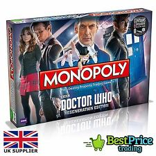 Monopoly Doctor Who Regeneration Edition Board Game *BRAND NEW & SEALED *Dr