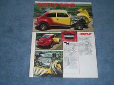 "1969 VW Bug Vintage Street Freak Article ""Beetle Bomb"" 454 Chevy Powered"