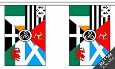 CELTIC NATIONS 3 metre BUNTING 10 FLAGS flag