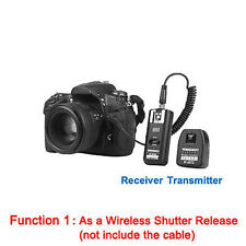 YONGNUO RF-602 2.4GHz Wireless Remote Flash Trigger w/ RX  Studio Cord for Nikon