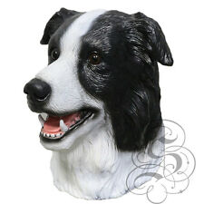 Latex Full Head Animal Border Collie Dog High Quality Fancy Props Carnival Masks