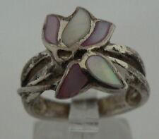 Ring aus 925 Silber mit Perlmutt, Gr. 53/Ø 16,9 mm  (da4303)
