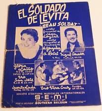Partition sheet music MIGUEL AMADOR / GLORIA LASSO : El Soldado * 50's