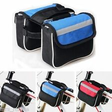 Bicycle Pannier Bag Front Tube Bar Cycling Frame Road Mountain BMX Bike Caravan