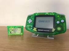 Nintendo Gameboy Game Boy Advance Bundle GBA *New Shell Pokemon Leaf Green Game*