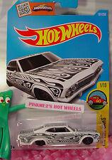 Case K 2016 i Hot Wheels '65 CHEVY IMPALA #191✰White✰Art Cars