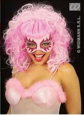 Pink Glitter Eye Mask With Wig Catwoman Cat Masquerade Ball Party Fancy Dress