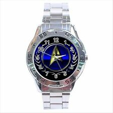 NEW* HOT STAR TREK BADGE Stainless Steel Analogue Watch Gift D01
