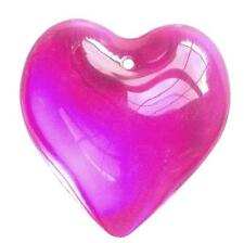 35mm Fuchsia Pink Smooth Heart Pendant Chandelier Crystal Prism Suncatcher