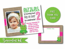 Girls Frog Theme Birthday Party Invitation - PRINTABLE Birthday Party Invite