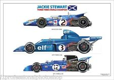 Jackie Stewart 3 times World F1 champion 1969,71,73 - ltd ed/250 art print