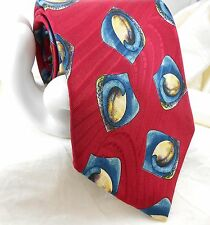 "Park Lane for Loevenhart's Men's Italian Silk Tie Red Abstract 4""x 58"" Canada"