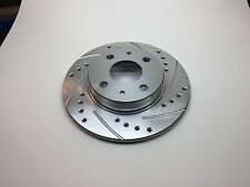 Fiat 500 2012+ Drilled and Slotted Upgrade Rear Brake Rotor (1) All