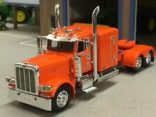 1/64 DCP ORANGE 389 PETERBILT W/ SLEEPER