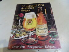 old advertising ancienne plaque carton biere Grand Cru HOEGAARDEN