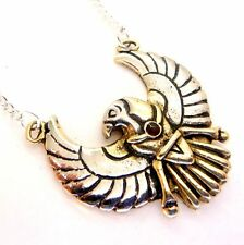 Red Crystal Horus Falcon Amulet Pendant Necklace Egyptian Jewels of Atum Ra JA15