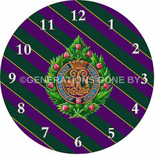 ARGYLL & SUTHERLAND HIGHLANDERS GLASS WALL CLOCK