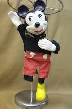 Vintage 1952 Disney Mickey Mouse Wooden Marionette Puppet, Missing 1 Shoe