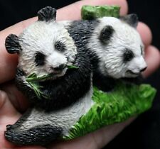 Couple Panda Bear Animal Resin 3D Fridge Magnet Handcrafted Handmade Resin Zoo