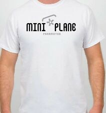 T-Shirt: Miniplane Paramotor and Top 80 Engine - Cotton Tee, White Miniplane-USA