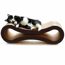 NEW PetFusion Cat Scratcher Lounge Deluxe Pet Exercise Sleep Play Bed Lounger