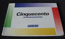 Betriebsanleitung Handbuch Fiat Cinquecento Stand 12/1995 Bedienungsanleitung