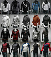 Men Warm Pullover Casual Jumper Sweatshirt Sport Coat Jackets Tops Hooded Hoodie