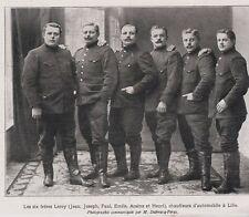 1910  --  LES SIX FRERES LEROY  CHAUFFEURS D AUTOMOBILE A LILLE   3G054