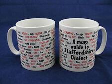 Staffordshire dialecte langue locale sayings traduction anglaise pour mug