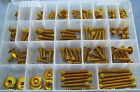 Universal 150 Piece Screw Set - Gold Anodised Bolts