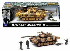 NEWRAY MILITARY MISSION 1:32 TANK WITH SOLDIERS LIGHT & SOUND EFFECTS 01856