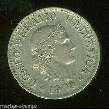 SWITZERLAND 1909 10 centimes COIN HAVE FUN YOU DO THE GRADING