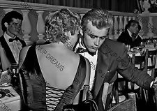 Vintage Photo Wall Art Re-Print of James Dean and Ursula Andress Movie Stars A4