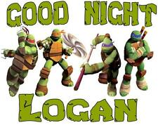 "NINJA TURTLES Personalized PILLOWCASE #2 ""GOOD NIGHT"" Any NAME Super Soft"