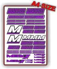 MUGEN MBX7 R 1/8 NITRO RC BUGGY STICKER SET CUSTOM A4 DECAL PURPLE BNIP