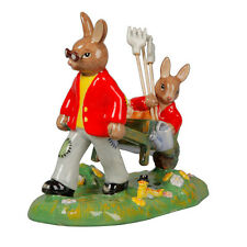 Bunnykins Cuthbert in the Garden Tableau DB511 2014 Royal Doulton Limited Ed 500