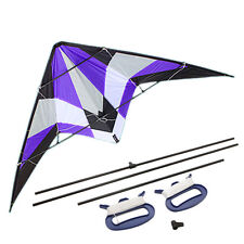 1.8m Delta Stunt Kite Dual Line Wing Span Triangle Parachute Outdoor Fly Purple