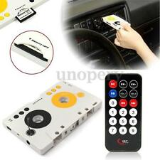 6Pcs Set Kit Car Telecontrol Tape Audio Cassette SD MMC MP3 Player Music Adapter