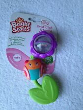 Bright Starts twist click and Teethe Ladybug pretty in pink teether rattle toy