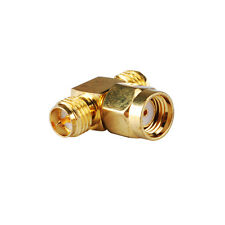 10X RP-SMA male male to two 2 RP-SMA female jack T Connector Adapter Coax 3 Way