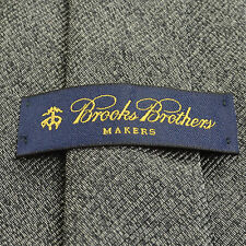 NEW BROOKS BROTHERS 57L Solid Dark Gray Woven Pure Silk Mens Neck Tie