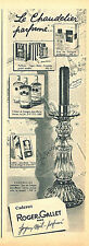 PUBLICITE ADVERTISING 124  1959  ROGER & GALLET CHANDELIER   cadeaux parfumés