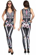 Sugar skull Adult womens Halloween Catsuit | sexy Femmes Costume Déguisement lc8854